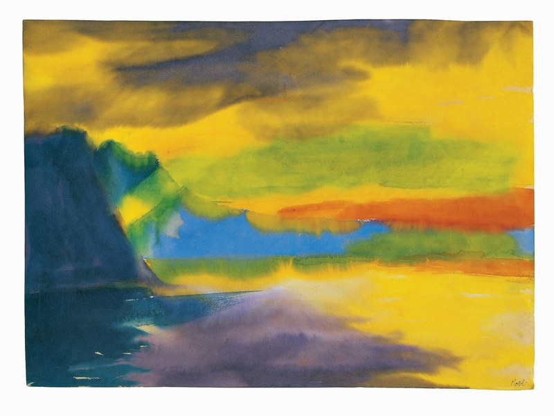 05 Emil Nolde_Bergsee mit Wolkenspiegelung_Aquarell_Nolde Stiftung Seebuell 1.jpg/@@images/image/large
